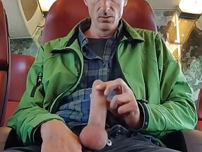 tired of Grindr mature makes video on train