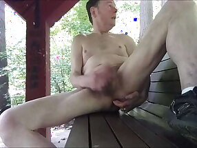 Caught Shooting My Load While Naked On A Park Bench August 2017