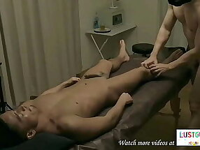 I went to a massage spa and this guy start shellacking my body