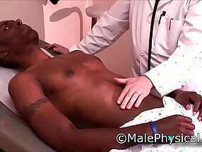 Black Male Doctor Visit Physical Exam