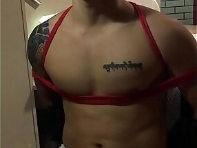 Amateur Asian Chinese Japanese Tattooed Muscle Hunk Man Gay BDSM Orgasm Refutation Teased Rope Play Cum Control