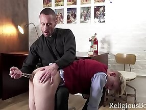 Priest Stuffs Teen's Asshole As Punishment