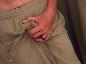 Soaking my shorts with hot piss